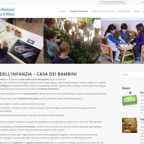 Pagina Interna Sito Web